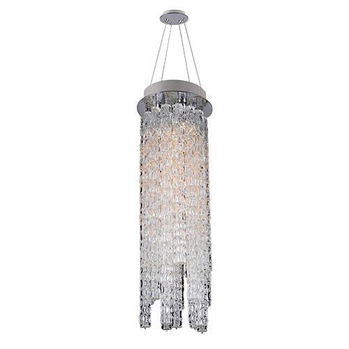 Allegri by Kalco Boticelli Chrome Three-Light Convertible Round Mini Pendant with Clear Glass