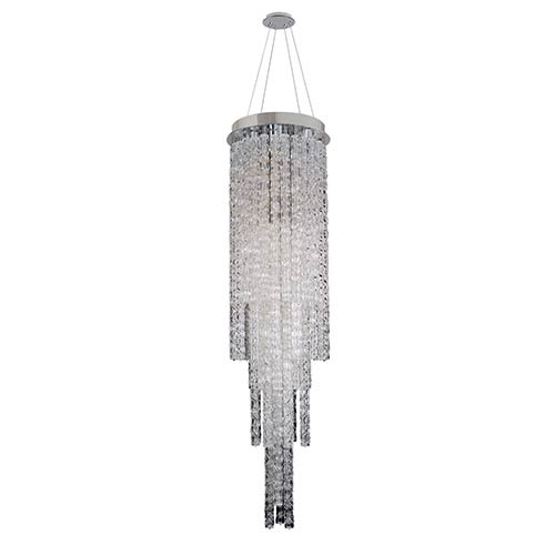 Allegri by Kalco Boticelli Chrome Four-Light Convertible Round Pendant with Clear Glass