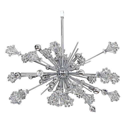 Allegri by Kalco Constellation Chrome 30-Light Pendant with Firenze Clear Crystal