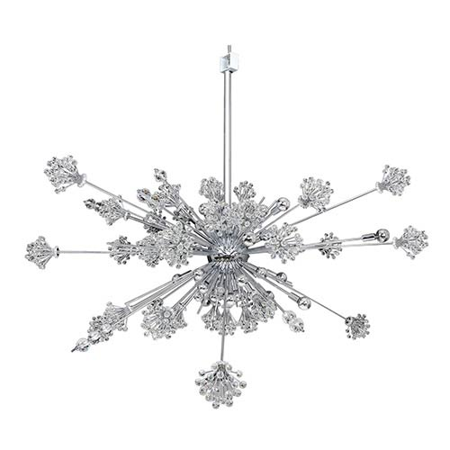 Constellation Chrome 46-Light 60-Inch Wide Pendant with Firenze Clear Crystal