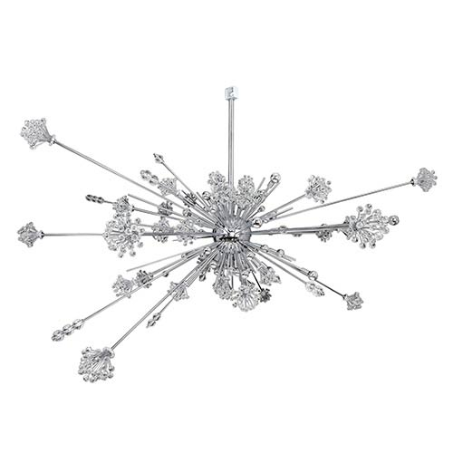 Constellation Chrome 46-Light 92-Inch Wide Pendant with Firenze Clear Crystal