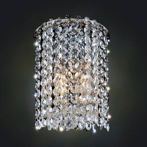 Allegri by Kalco Milieu Metro Chrome One-Light Sconce with Firenze Clear Crystal