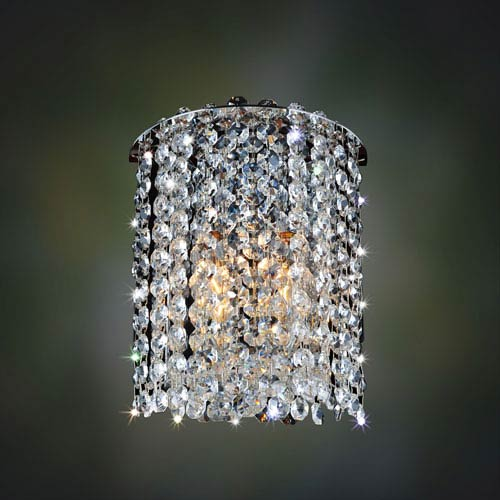 Milieu Metro Chrome Two-Light Sconce with Firenze Clear Crystal