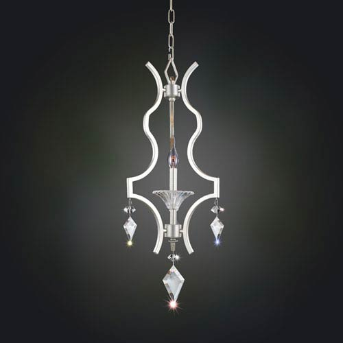 Florence Tarnished Silver One-Light Pendant with Firenze Clear Crystal