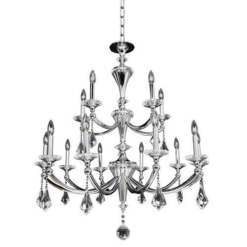 15 Light Polished Crystal Chandelier