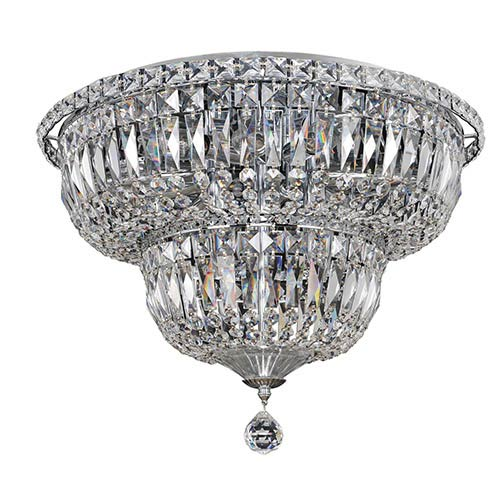 Allegri by Kalco Betti Chrome 12-Light Flush Mount with Firenze Clear Crystal
