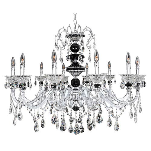 Allegri by Kalco Faure Chrome 10-Light Chandelier with Firenze Clear Crystal