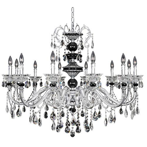 Allegri by Kalco Faure Chrome 12-Light Chandelier with Firenze Clear Crystal
