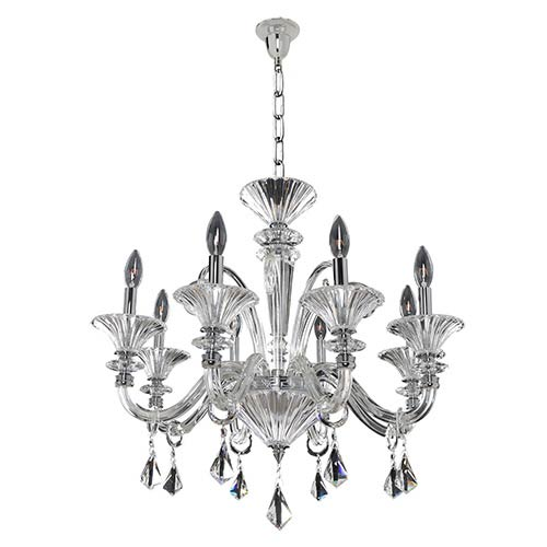 Allegri by Kalco Chauvet Polished Chrome Eight-Light Chandelier with Firenze Clear Crystal