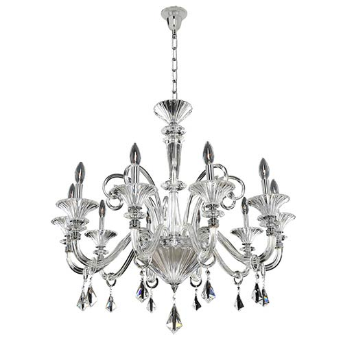 Allegri by Kalco Chauvet Polished Chrome 10-Light 32.5-Inch Wide Chandelier