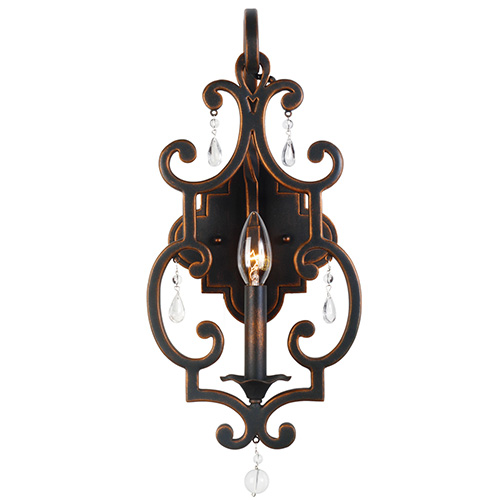 Kalco Lighting Montgomery Antique Copper One-Light Wall Sconce