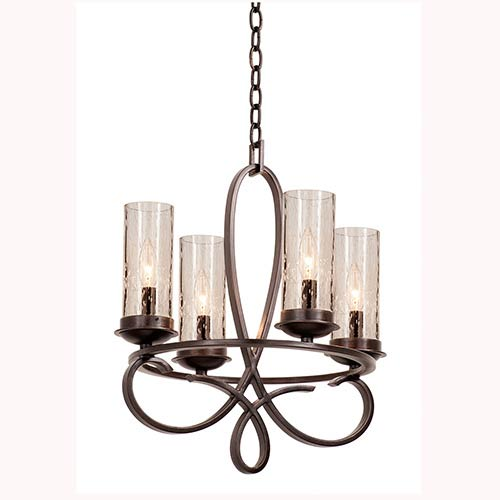 Grayson Heirloom Bronze Four-Light Chandelier