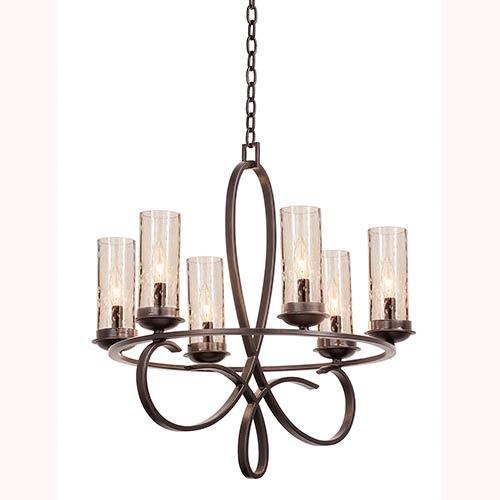 Kalco Lighting Grayson Heirloom Bronze Six Light Round Chandelier
