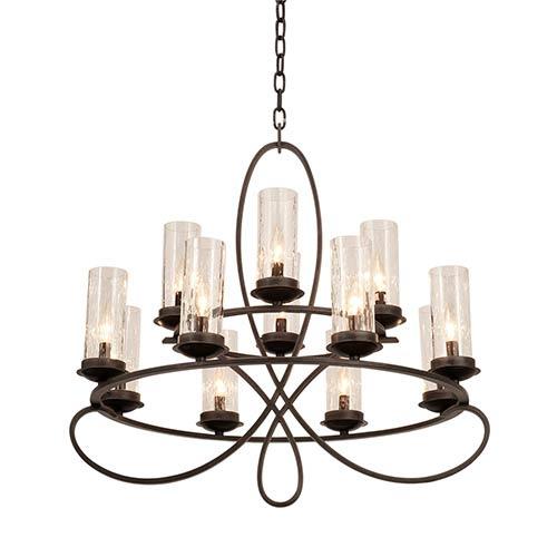 Kalco Lighting Grayson Heirloom Bronze 12-Light Chandelier