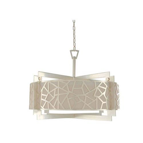 Miramar Rose Silver Six Light Pendant