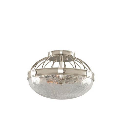 Kalco Lighting Montauk Polished Nickel Two Light Flush Mount