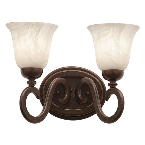 Kalco Lighting Santa Barbara Tortoise Shell Two-Light Bath Fixture