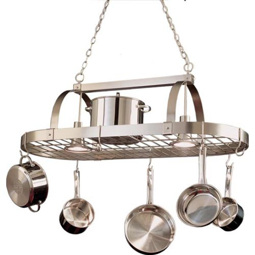Kalco Lighting Satin Nickel Pot Rack