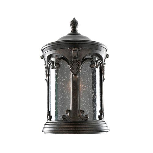 Lago Burnished Bronze 1-Light 9-Inch Outdoor Wall Pocket
