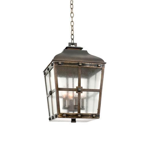 Sherwood Aged Bronze 4-Light 13.25-Inch Outdoor Pendant