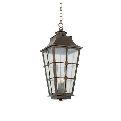 Belle Grove Aged Bronze 4-Light 11-Inch Outdoor Pendant