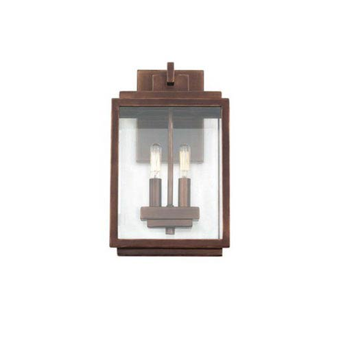 Chester Copper Patina Two Light Outdoor Wall Mount