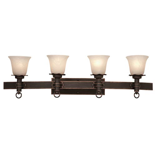 Kalco Lighting Americana Antique Copper Four-Light Bath Fixture