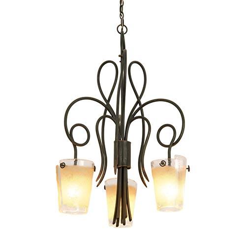 Kalco Lighting Tribeca Antique Copper Three-Light Dinette Chandelier