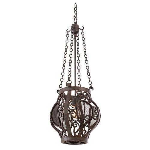 Isabel Oxidized Copper One-Light Mini Pendant