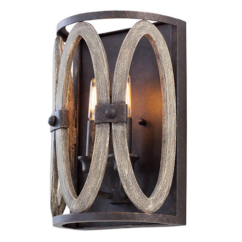 hand forged wrought iron sconce bellacor