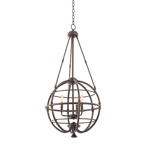Kalco Lighting Larson Tawny Port Three-Light 20-Inch Wide Pendant