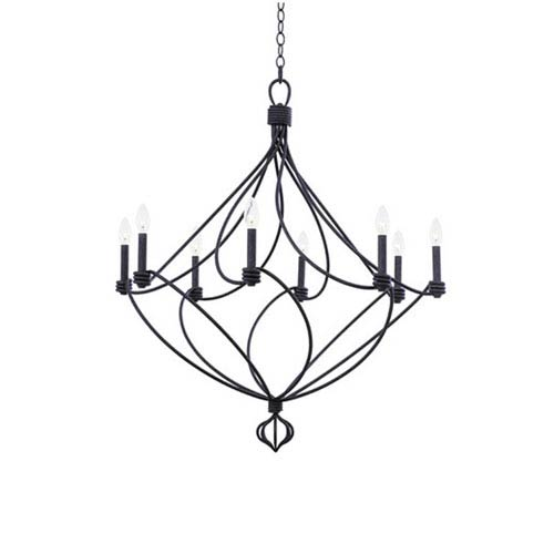 Sundance Charcoal 8-Light 36-Inch Chandelier