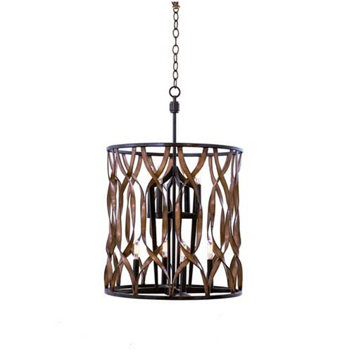 Soho Milk Chocolate 8-Light 20-Inch Foyer Pendant