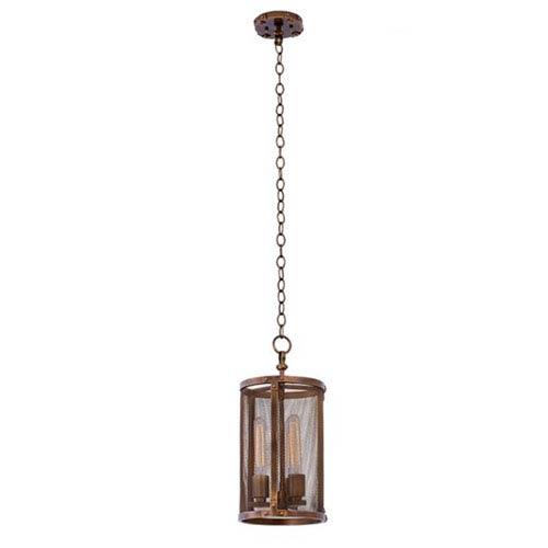 Chelsea Copper Patina 3-Light 9-Inch Mini Pendant