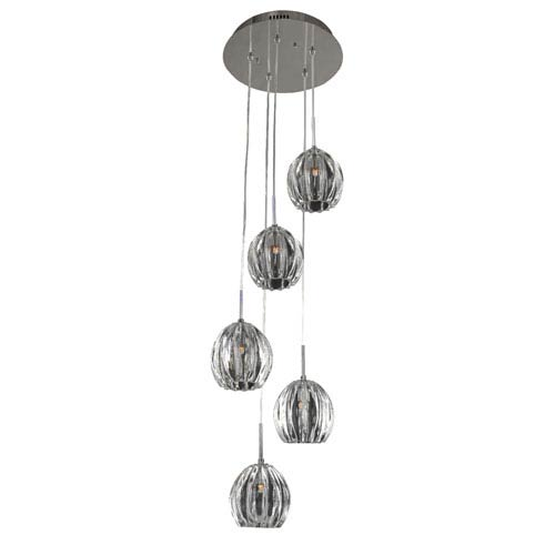 Viceroy Chrome 5-Light 13-Inch Pendant
