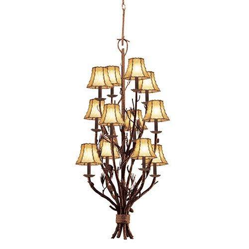 Ponderosa 12-Light Three Tier Foyer Pendant