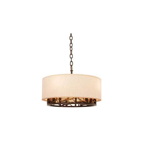 Hudson Bronze Gold Four Light Pendant
