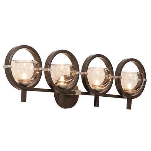 Kalco Lighting Lunaire Old Bronze Four-Light Wall Bracket
