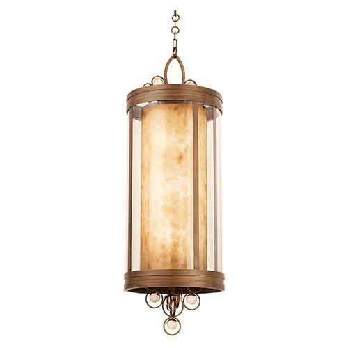 Kalco Lighting Sandhurst Antique Brass Six-Light Pendant