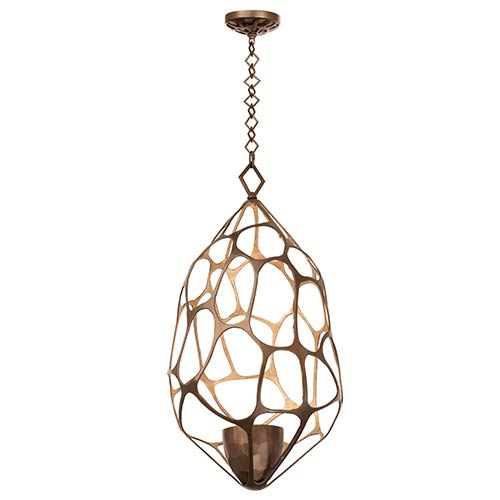 Kalco Lighting Fossil Bronze Gold One Light Pendant
