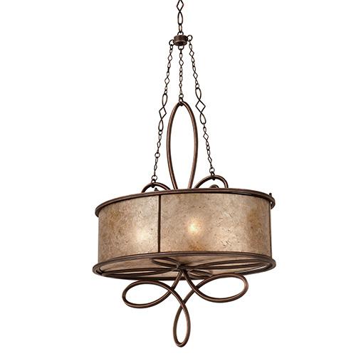 Kalco Lighting Whitfield Antique Copper Four-Light Chandelier