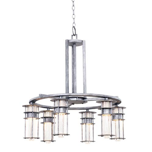 Anchorage Rugged Iron Six-Light Chandelier