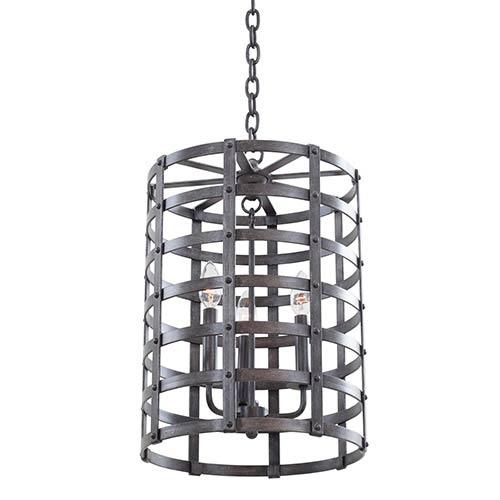 Kalco Lighting Townsend Vintage Iron 20.5-Inch High Three-Light Lantern