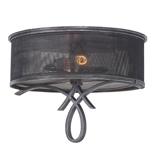 Kalco Lighting Delancy Vintage Iron Two-Light Flush Mount