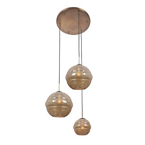 Kalco Lighting Celine Chemical Bronze Three-Light Foyer Pendant