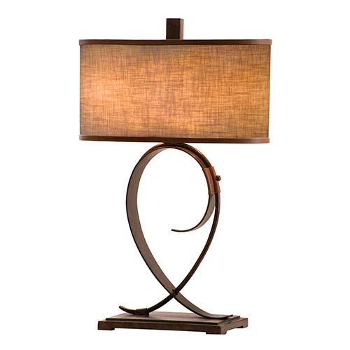 Kalco Lighting Rodeo Drive Antique Copper Two-Light Table Lamp