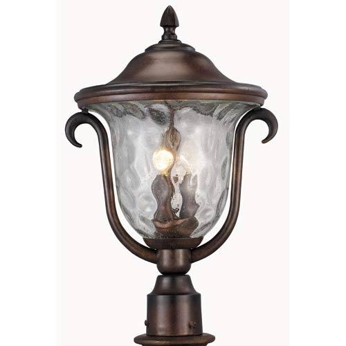Santa Barbara Burnished Bronze Medium Outdoor Post Mount Lantern
