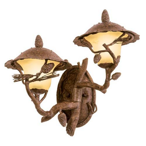 Ponderosa Right Outdoor Two-Light Wall Mount