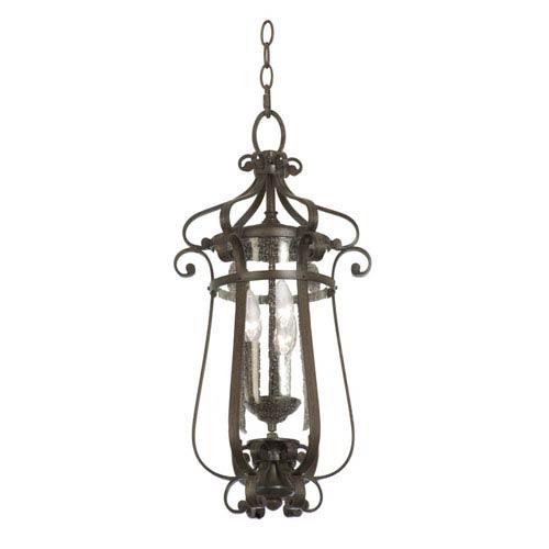 Kalco Lighting Hartford Outdoor Antique Copper 3-Light 11-Inch Lantern