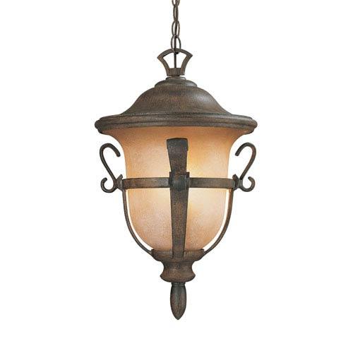 Tudor Walnut Medium Hanging Lantern